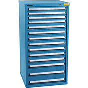 "Kennedy HDS Modular Drawer Cabinet 7336UB - Standard 14 Drawer 31""W x 30""D x 60 Blue"
