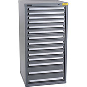 "Kennedy HDS Modular Drawer Cabinet 7336UGY - Standard 14 Drawer 31""W x 30""D x 60 Gray"