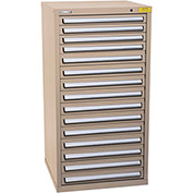 "Kennedy HDS Modular Drawer Cabinet 7337TX - Standard 15 Drawer 31""W x 30""D x 60 Tan"