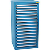 "Kennedy HDS Modular Drawer Cabinet 7337UB - Standard 15 Drawer 31""W x 30""D x 60 Blue"