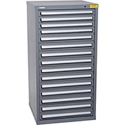 "Kennedy HDS Modular Drawer Cabinet 7337UGY - Standard 15 Drawer 31""W x 30""D x 60 Gray"