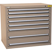 "Kennedy HDS Modular Drawer Cabinet 7425TX - Wide-Standard 6 Drawer 45""W x 30""D x 40 Tan"