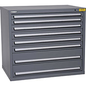 "Kennedy HDS Modular Drawer Cabinet 7425UGY - Wide-Standard 6 Drawer 45""W x 30""D x 40 Gray"