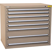 "Kennedy HDS Modular Drawer Cabinet 7426TX - Wide-Standard 8 Drawer 45""W x 30""D x 40 Tan"