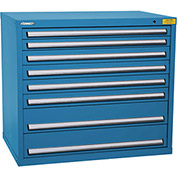 "Kennedy HDS Modular Drawer Cabinet 7426UB - Wide-Standard 8 Drawer 45""W x 30""D x 40 Blue"
