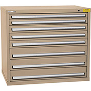 "Kennedy HDS Modular Drawer Cabinet 7428TX - Wide-Standard 8 Drawer 45""W x 30""D x 40 Tan"