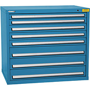 "Kennedy HDS Modular Drawer Cabinet 7428UB - Wide-Standard 8 Drawer 45""W x 30""D x 40 Blue"