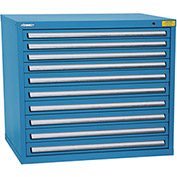 "Kennedy HDS Modular Drawer Cabinet 7429UB - Wide-Standard 10 Drawer 45""W x 30""D x 40 Blue"