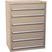 "Kennedy HDS Modular Drawer Cabinet 7431TX - Wide-Standard 6 Drawer 45""W x 30""D x 60 Tan"