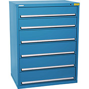 "Kennedy HDS Modular Drawer Cabinet 7431UB - Wide-Standard 6 Drawer 45""W x 30""D x 60 Blue"