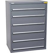"Kennedy HDS Modular Drawer Cabinet 7431UGY - Wide-Standard 6 Drawer 45""W x 30""D x 60 Gray"
