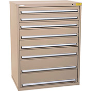 "Kennedy HDS Modular Drawer Cabinet 7432TX - Wide-Standard 8 Drawer 45""W x 30""D x 60 Tan"