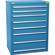 "Kennedy HDS Modular Drawer Cabinet 7432UB - Wide-Standard 8 Drawer 45""W x 30""D x 60 Blue"