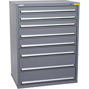 "Kennedy HDS Modular Drawer Cabinet 7432UGY - Wide-Standard 8 Drawer 45""W x 30""D x 60 Gray"