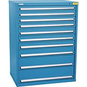 "Kennedy HDS Modular Drawer Cabinet 7433UB - Wide-Standard 10 Drawer 45""W x 30""D x 60 Blue"