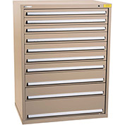 "Kennedy HDS Modular Drawer Cabinet 7434TX - Wide-Standard 10 Drawer 45""W x 30""D x 60 Tan"