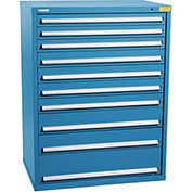 "Kennedy HDS Modular Drawer Cabinet 7434UB - Wide-Standard 10 Drawer 45""W x 30""D x 60 Blue"