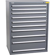 "Kennedy HDS Modular Drawer Cabinet 7434UGY - Wide-Standard 10 Drawer 45""W x 30""D x 60 Gray"