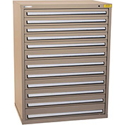 "Kennedy HDS Modular Drawer Cabinet 7435TX - Wide-Standard 12 Drawer 45""W x 30""D x 60 Tan"