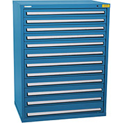 "Kennedy HDS Modular Drawer Cabinet 7435UB - Wide-Standard 12 Drawer 45""W x 30""D x 60 Blue"