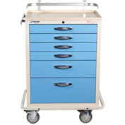 Blue Bell Medical™ BAC-27 Basic Anesthesia Cart 89002 - Key Lock, 6 Drawers