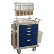Blue Bell Medical™ BAC-24 Deluxe Anesthesia Cart 89004 - Key Lock, 5 Drawers