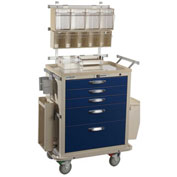Blue Bell Medical™ BAC-24 Deluxe Anesthesia Cart 89006 - EPB Lock, 5 Drawers