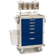 Blue Bell Medical™ BAC-27 Deluxe Anesthesia Cart 89007 - Key Lock, 6 Drawers