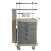 Blue Bell Medical™ BAC-27 Deluxe Intubation Cart 89014 - 6 Drawers