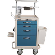 Blue Bell Medical™ BAC-21C Basic Epidural Cart 89016 - Key Lock, 4 Drawers