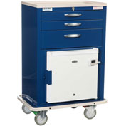 Blue Bell Medical™ BHC-2 Basic MH Cart 89022 - Breakaway Lock, 3 Drawers