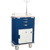 Blue Bell Medical™ BHC-2 Deluxe MH Cart 89023 - Breakaway Lock, 3 Drawers