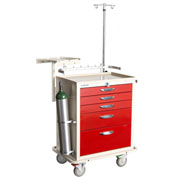 Blue Bell Medical™ BAC-30 Deluxe Crash Cart 89026 - Breakaway Lock, 6 Drawers
