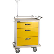 Blue Bell Medical™ BAC-24 Standard Isolation Cart 89029 - 3 Drawers