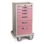 Blue Bell Medical™ BAC-30C Compact Supply Cart 89032 - CPB Lock, 6 Drawers