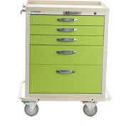 Blue Bell Medical™ BAC-24 Standard Supply Cart 89033 - CPB Lock, 5 Drawers