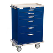 Blue Bell Medical™ BAC-30 Standard Supply Cart 89035 - CPB Lock, 6 Drawers
