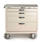 Blue Bell Medical™ BAC-22W Wide Supply Cart 89036 - CPB Lock, 4 Drawers