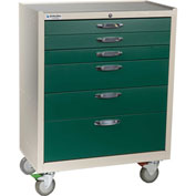 Blue Bell Medical™ BAC-30W Wide Supply Cart 89037 - CPB Lock, 6 Drawers
