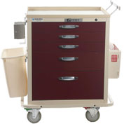 Blue Bell Medical™ BAC-24 Standard Treatment Cart 89038 - Combination Lock, 5 Drawers