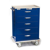Blue Bell Medical™ BAC-30 Standard Exchange Cart 89040 - Combination Lock, 5 Drawers