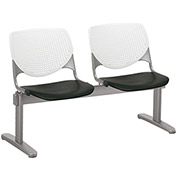 KFI Beam Seating Guest Chairs - 2 Seater - White/Black