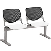 KFI Beam Seating Guest Chairs - 2 Seater - Black/White