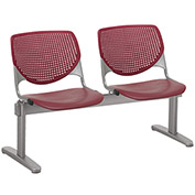 KFI Beam Seating Guest Chairs - 2 Seater - Burgundy
