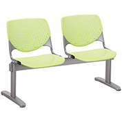 KFI Beam Seating Guest Chairs - 2 Seater - Lime Green