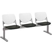 KFI Beam Seating Guest Chairs - 3 Seater - White/Black