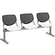 KFI Beam Seating Guest Chairs - 3 Seater - Black/White