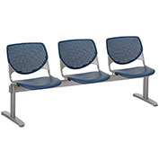KFI Beam Seating Guest Chairs - 3 Seater - Navy