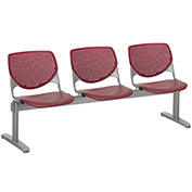 KFI Beam Seating Guest Chairs - 3 Seater - Burgundy