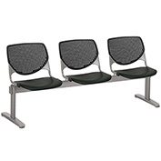 KFI Beam Seating Guest Chairs - 3 Seater - Black